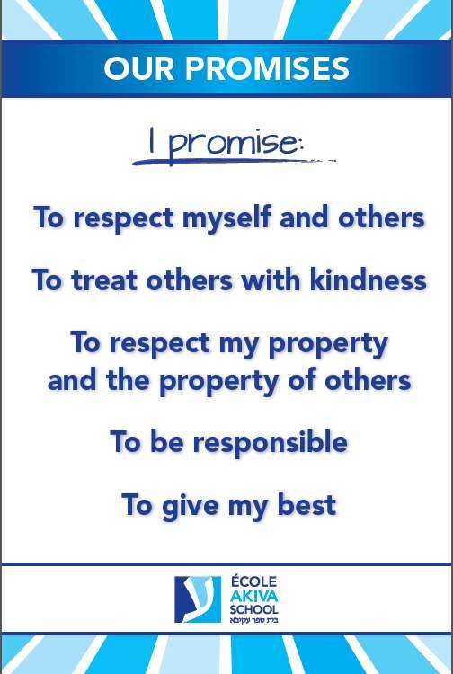 Akiva 5 promises in English