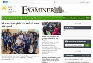 Akiva Girls Basketball team 2015 in the Westmount Examiner 24_03_2015