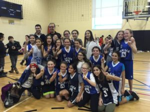 girls basketball team victory 2015