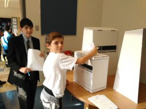 Akiva School Grade 6 Vote Day