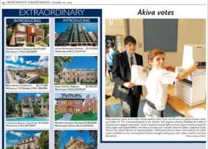 Akiva School in the Westmount Independent Oct 20